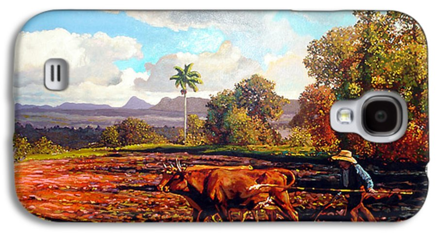 Cuban Art Galaxy S4 Case featuring the painting Grandfather Farm by Jose Manuel Abraham