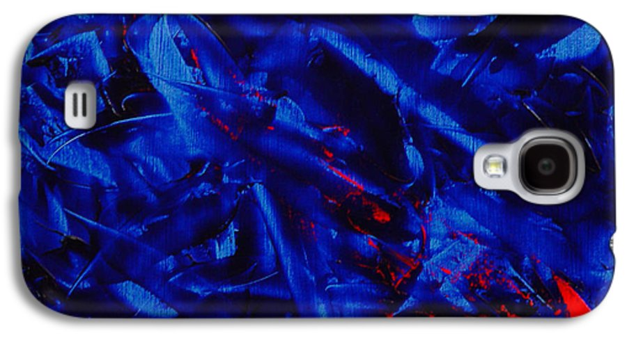 Abstract Galaxy S4 Case featuring the painting Grandma IIi by Dean Triolo