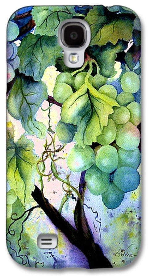 Grapes Galaxy S4 Case featuring the painting Grapes II by Karen Stark