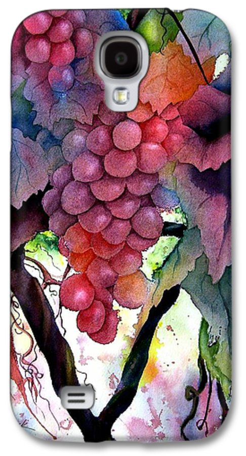 Grape Galaxy S4 Case featuring the painting Grapes IIi by Karen Stark