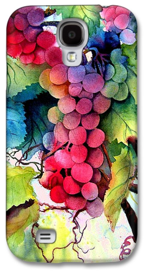 Grapes Galaxy S4 Case featuring the painting Grapes by Karen Stark