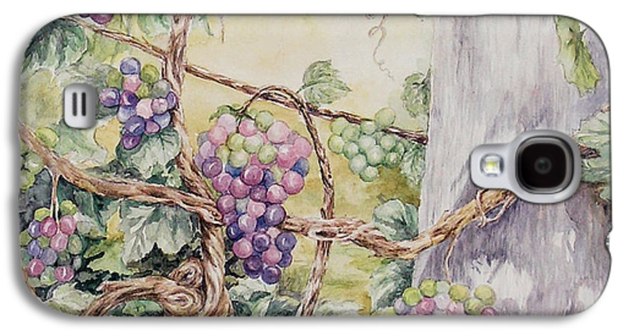 Vines Galaxy S4 Case featuring the painting Grapevine Laurel Lakevineyard by Valerie Meotti