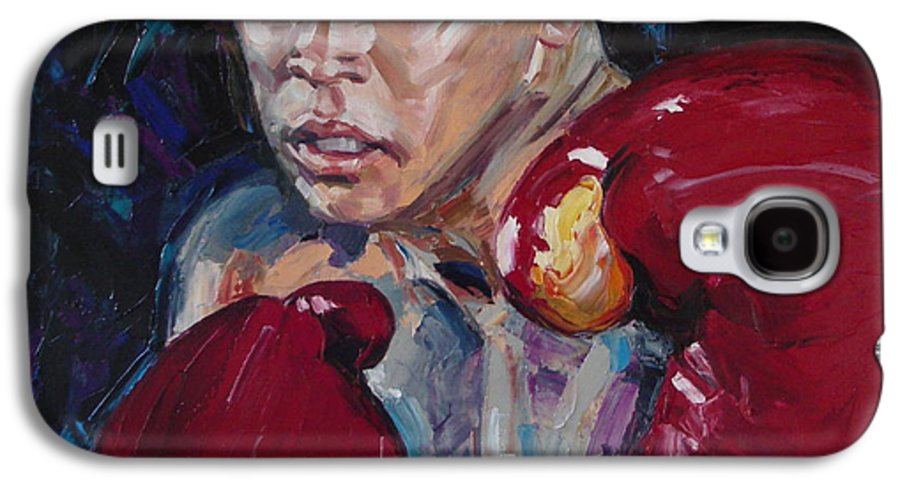 Figurative Galaxy S4 Case featuring the painting Great Ali by Sergey Ignatenko