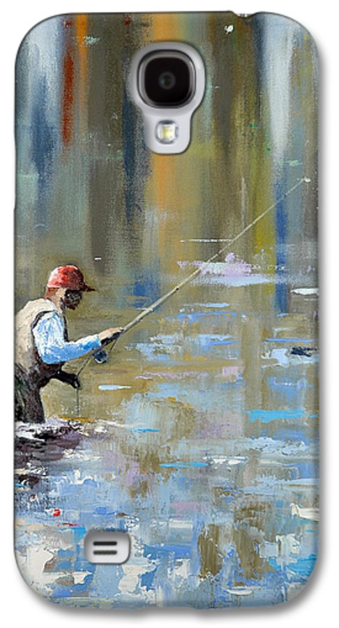 Flyfishing Galaxy S4 Case featuring the painting Great Expectations by Glenn Secrest