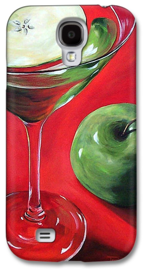 Martini Galaxy S4 Case featuring the painting Green Apple Martini by Torrie Smiley