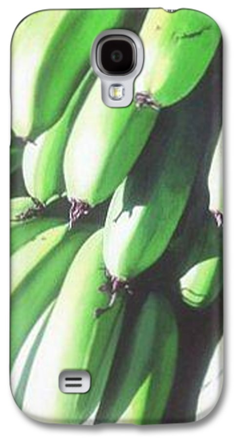 Hyperrealism Galaxy S4 Case featuring the painting Green Bananas I by Michael Earney
