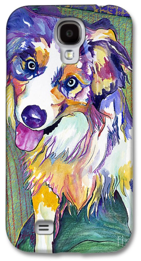 Pat Saunders-white Galaxy S4 Case featuring the painting Green Couch  by Pat Saunders-White