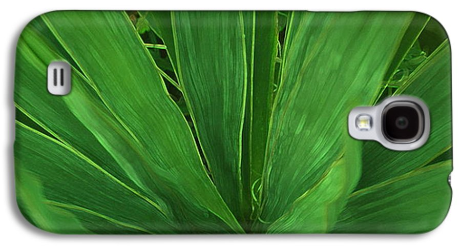Green Plant Galaxy S4 Case featuring the photograph Green Glow by Linda Sannuti