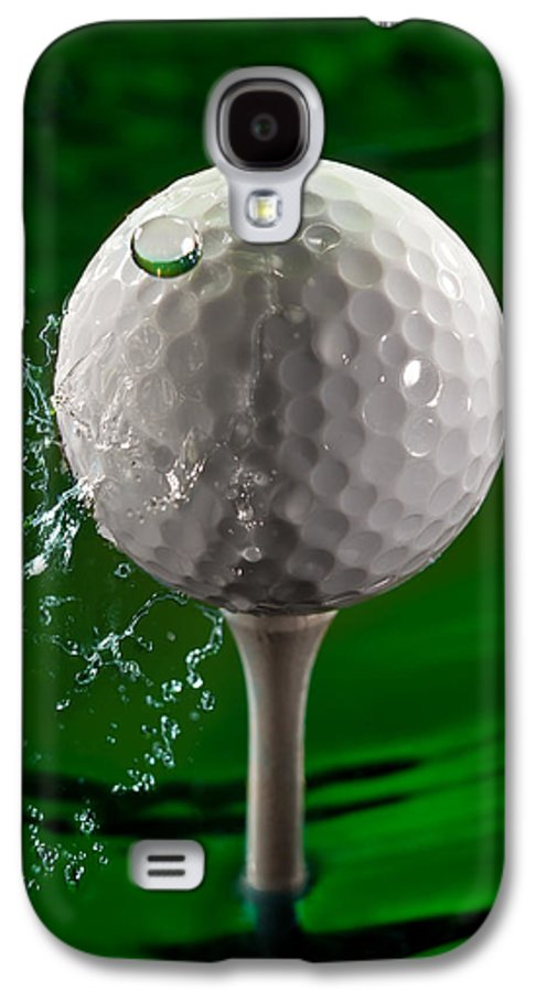 Golf Galaxy S4 Case featuring the photograph Green Golf Ball Splash by Steve Gadomski