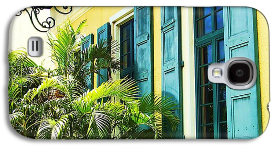 Architecture Galaxy S4 Case featuring the photograph Green Shutters by Debbi Granruth