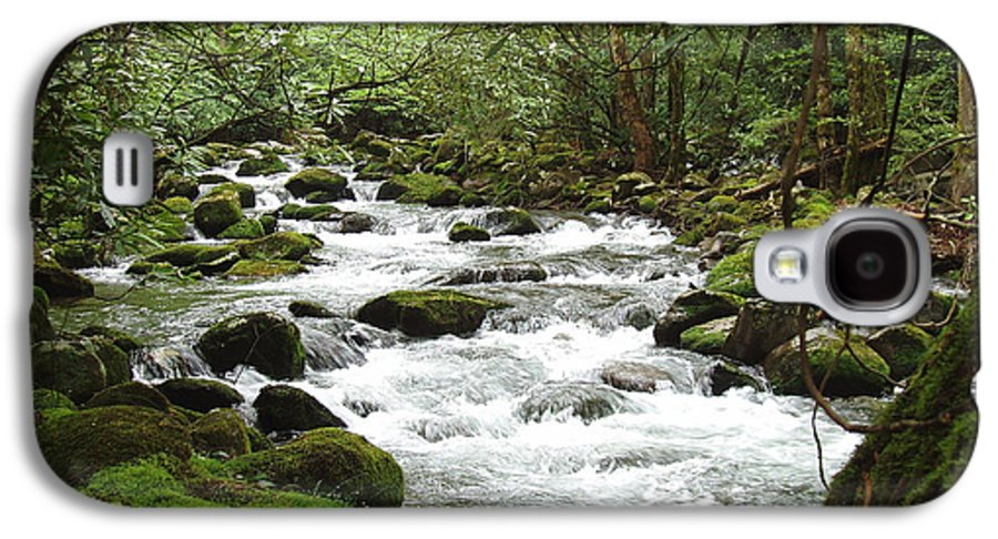 Smoky Mountains Galaxy S4 Case featuring the photograph Greenbrier River Scene 2 by Nancy Mueller