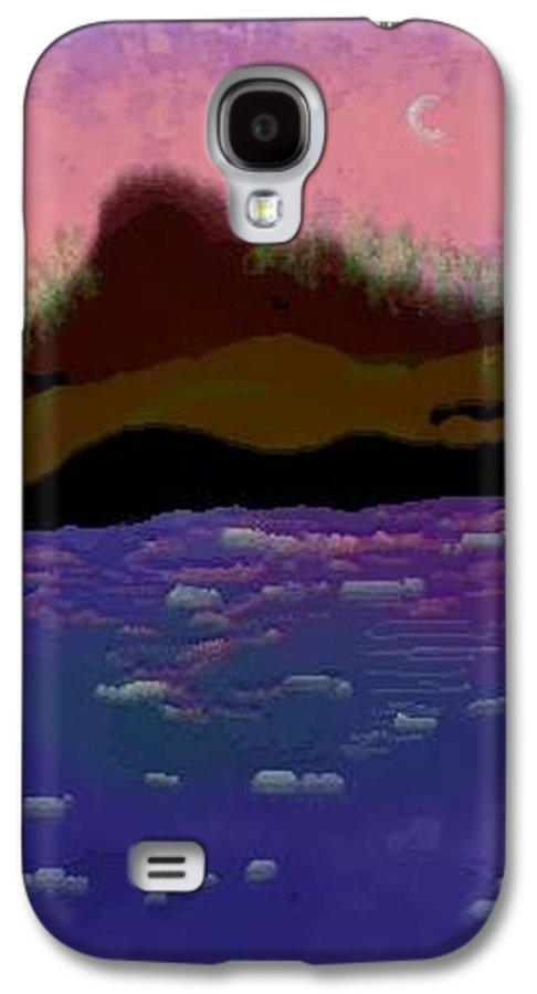 Sky.moon. Rose Sun Reflection.mount.forest. Island.sea.little Icebergs.deep Water Galaxy S4 Case featuring the digital art Greenland.summer by Dr Loifer Vladimir