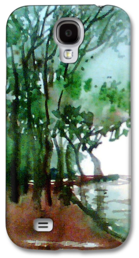 Water Color Galaxy S4 Case featuring the painting Greens by Anil Nene