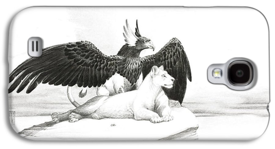 Griffin Galaxy S4 Case featuring the painting Griffin And Lioness by Melissa A Benson