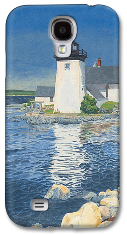 Lighthouse Galaxy S4 Case featuring the painting Grindle Point Light by Dominic White