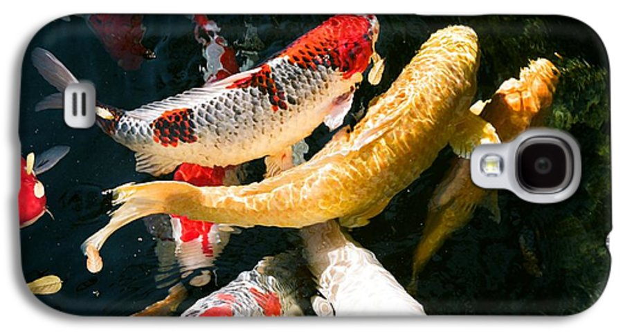 Fish Galaxy S4 Case featuring the photograph Group Of Koi Fish by Dean Triolo