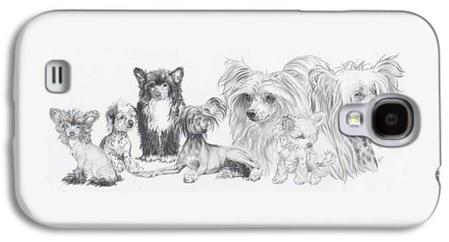 Toy Group Galaxy S4 Case featuring the drawing Growing Up Chinese Crested And Powderpuff by Barbara Keith