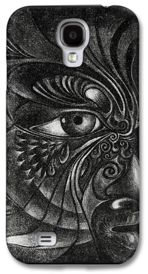 Mezzotint Galaxy S4 Case featuring the drawing Guardian Cherub by Otto Rapp