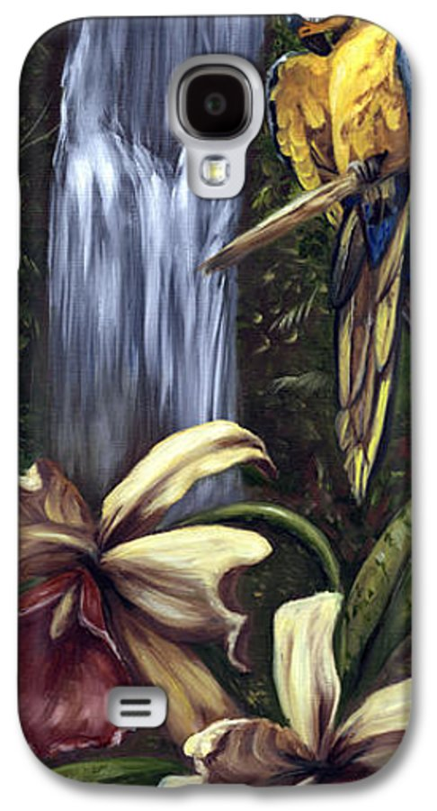 Birds Galaxy S4 Case featuring the painting Guardian Of The Falls by Anne Kushnick