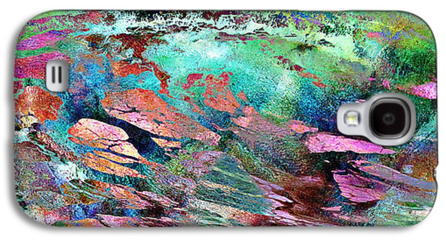 Large Abstract Galaxy S4 Case featuring the mixed media Guided By Intuition - Abstract Art by Jaison Cianelli