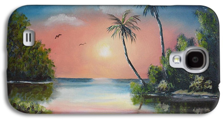 Sunset Galaxy S4 Case featuring the painting Gulf Coast Sunset by Susan Kubes