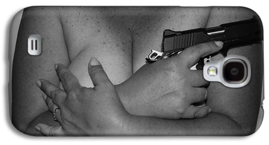 Black And White Galaxy S4 Case featuring the photograph Guns And Ammo by Rob Hans