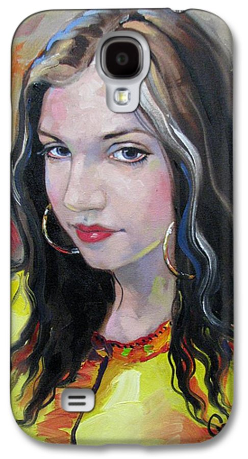Gypsy Galaxy S4 Case featuring the painting Gypsy Girl by Jerrold Carton
