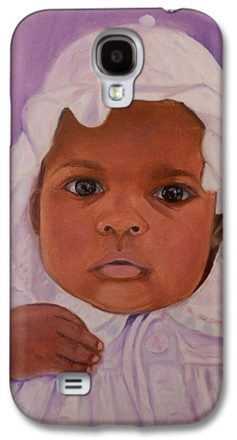 Haiti Galaxy S4 Case featuring the painting Haitian Baby Orphan by Quwatha Valentine