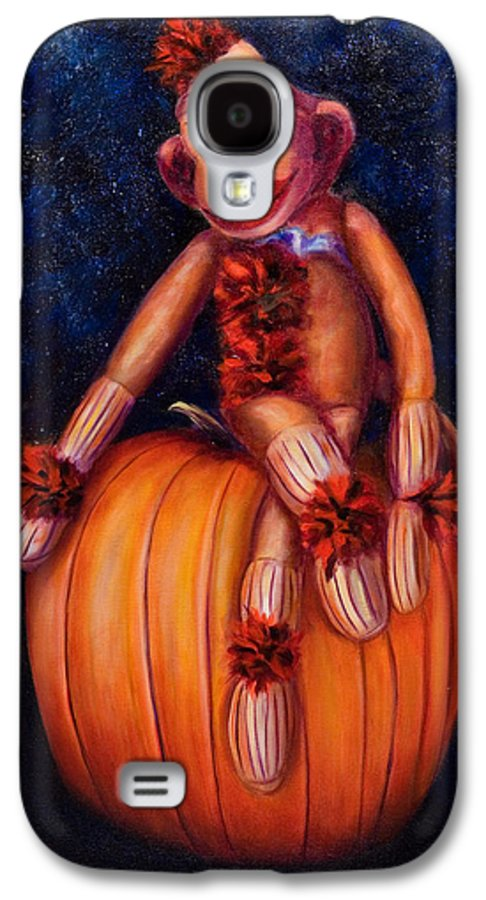 Pumpkin Galaxy S4 Case featuring the painting Halloween by Shannon Grissom