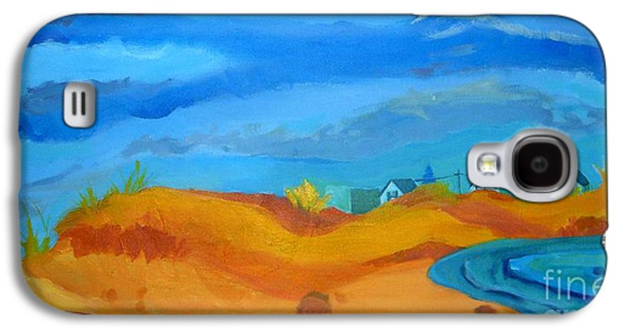 Ocean Galaxy S4 Case featuring the painting Hampton Dunes by Debra Bretton Robinson