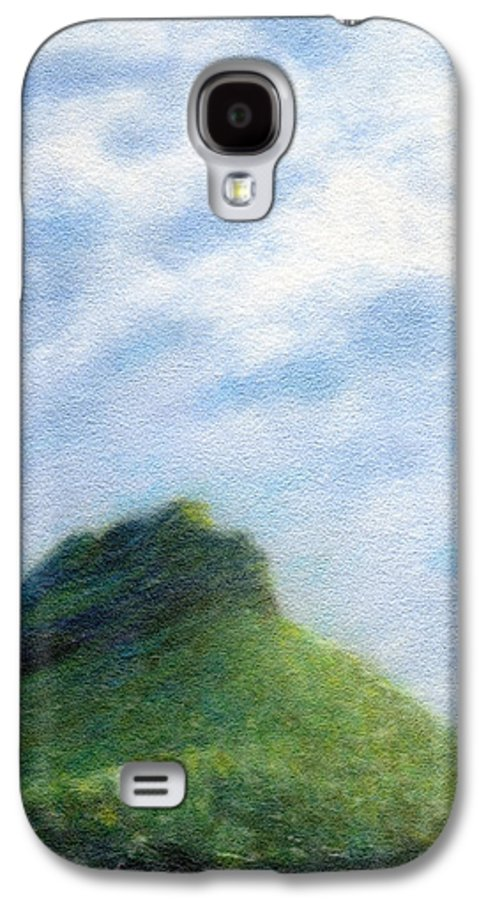 Rainbow Colors Pastel Galaxy S4 Case featuring the painting Hanakapia Beach View by Kenneth Grzesik