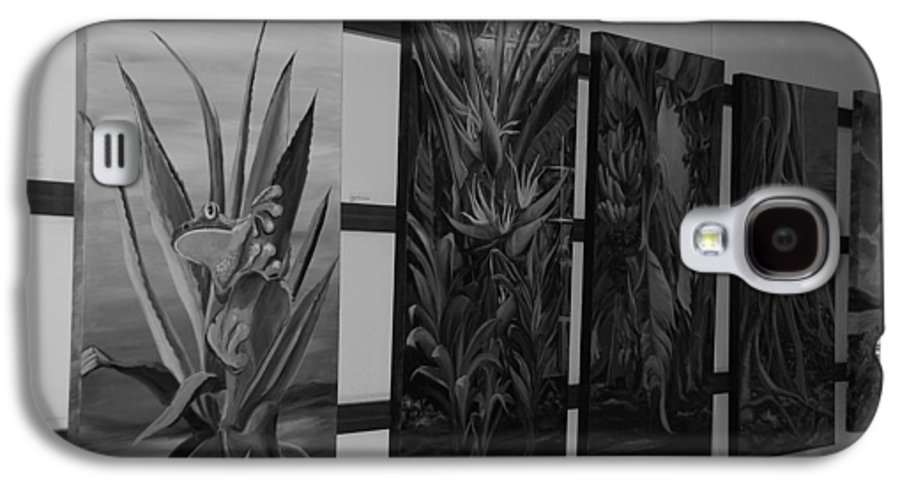 Black And White Galaxy S4 Case featuring the photograph Hanging Art by Rob Hans