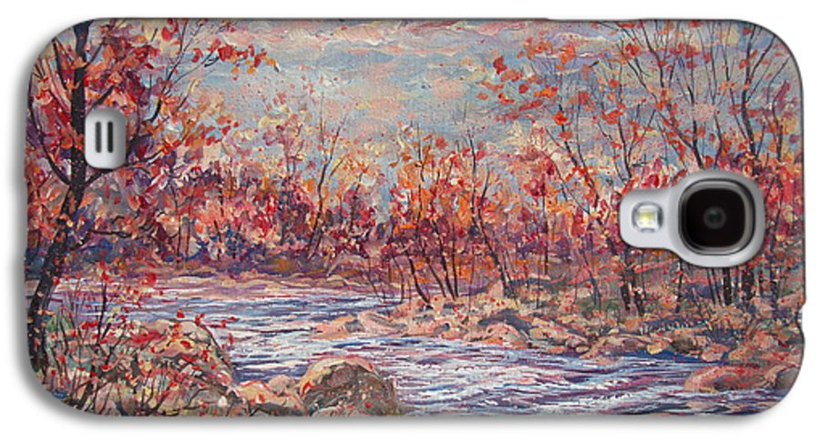 Landscape Galaxy S4 Case featuring the painting Happy Autumn Days. by Leonard Holland