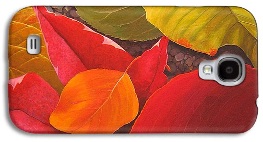 Autumn Leaves Galaxy S4 Case featuring the painting Happy Landings by Hunter Jay