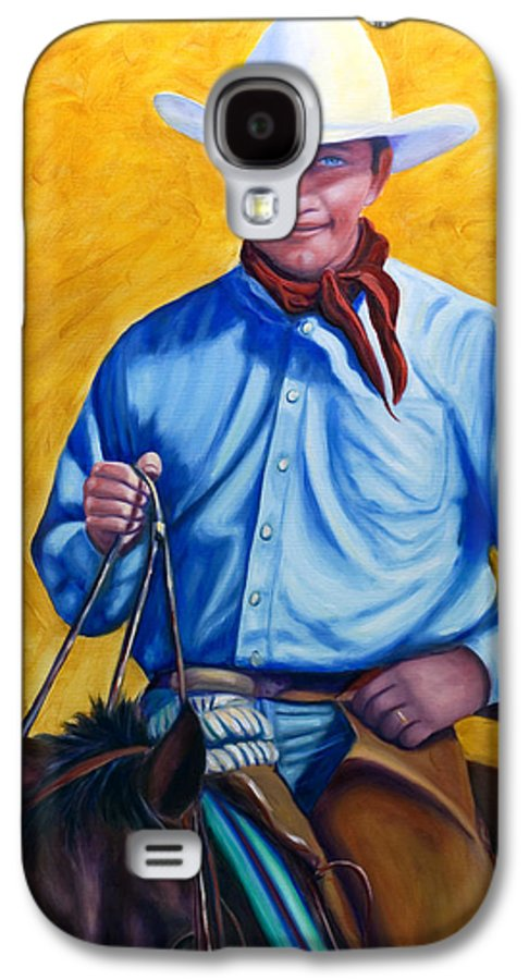 Cowboy Galaxy S4 Case featuring the painting Happy Trails by Shannon Grissom