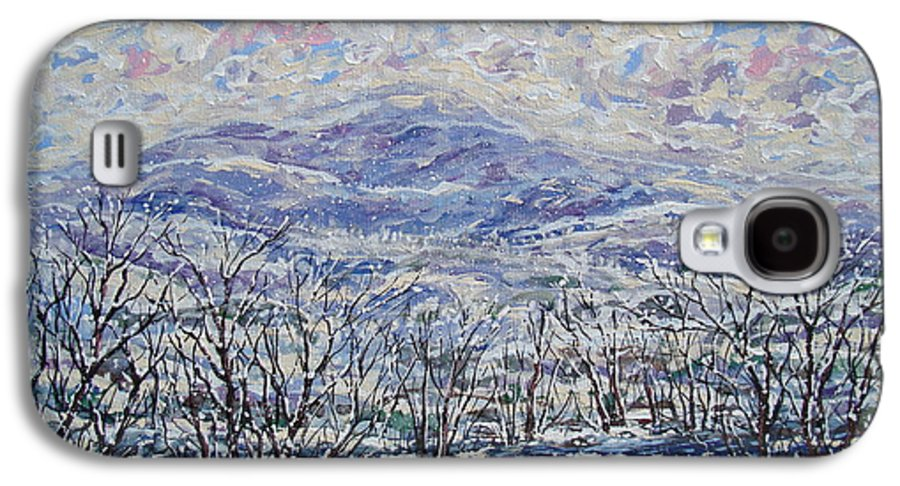 Landscape Galaxy S4 Case featuring the painting Happy Winter. by Leonard Holland