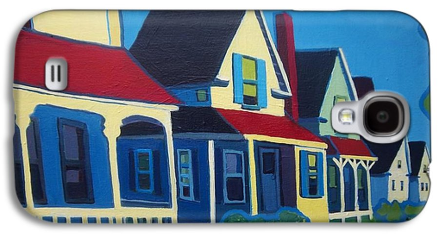 Maine Galaxy S4 Case featuring the painting Harpswell Cottages by Debra Bretton Robinson