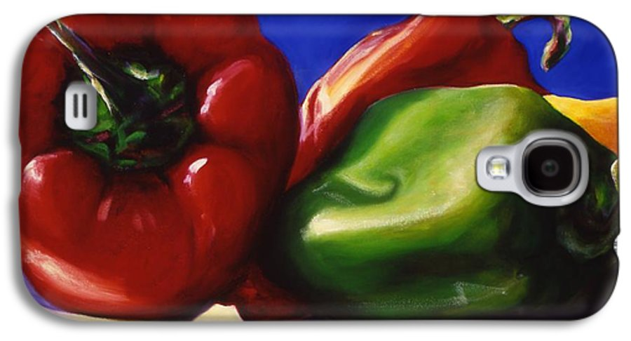 Still Life Galaxy S4 Case featuring the painting Harvest Festival Peppers by Shannon Grissom