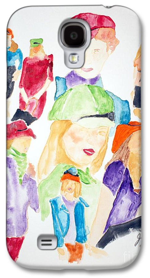 Hats Galaxy S4 Case featuring the painting Hats by Shelley Jones