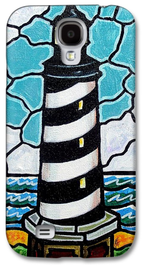 Lighthouse Galaxy S4 Case featuring the painting Hatteras Island Lighthouse by Jim Harris