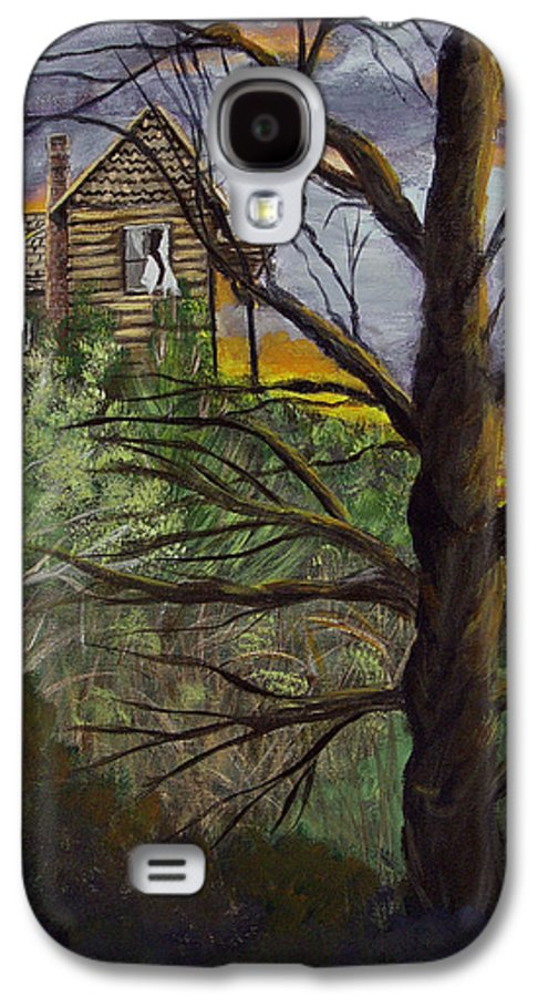 House Galaxy S4 Case featuring the painting Haunted House by Quwatha Valentine