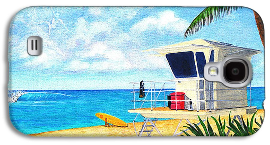 Hawaii Galaxy S4 Case featuring the painting Hawaii North Shore Banzai Pipeline by Jerome Stumphauzer
