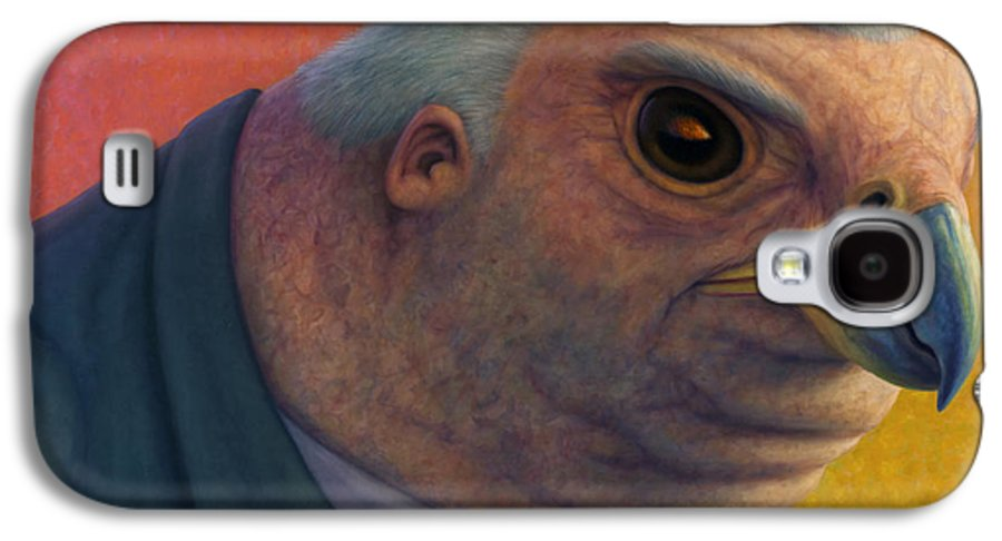 Hawk Galaxy S4 Case featuring the painting Hawkish by James W Johnson