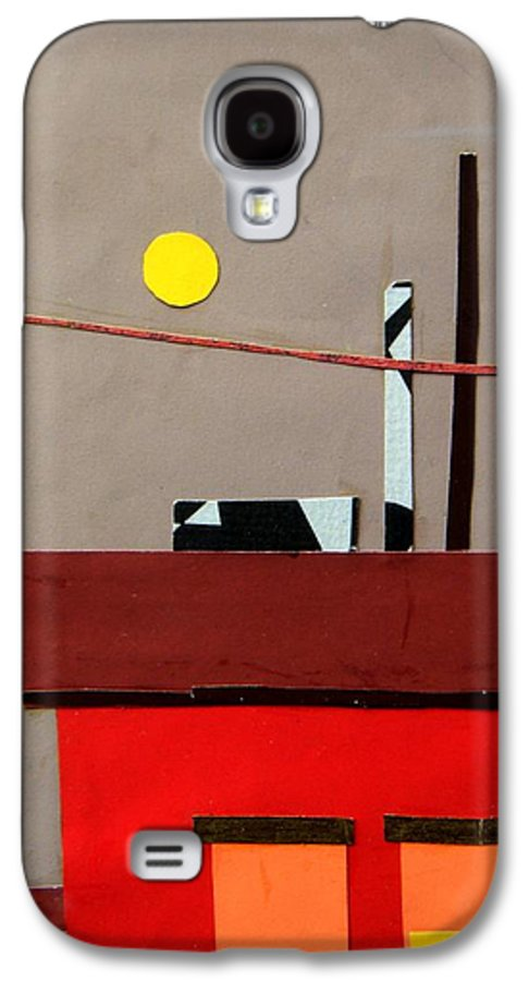 City Galaxy S4 Case featuring the mixed media Hazy Rooftops 2 by Debra Bretton Robinson