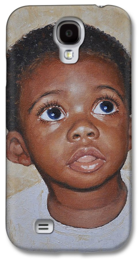 Portaits Galaxy S4 Case featuring the painting He Is Coming by Iliyan Bozhanov