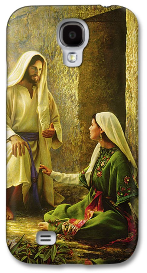 Jesus Galaxy S4 Case featuring the painting He Is Risen by Greg Olsen