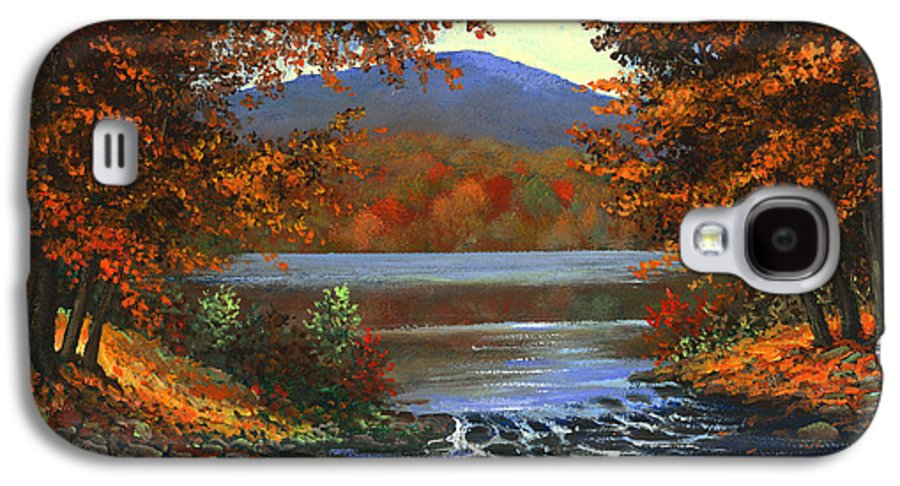 Landscape Galaxy S4 Case featuring the painting Headwaters by Frank Wilson