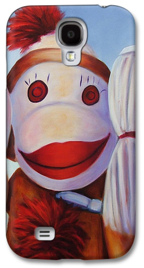Children Galaxy S4 Case featuring the painting Hear No Bad Stuff by Shannon Grissom