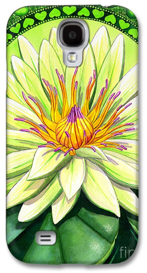 Heart Galaxy S4 Case featuring the painting Heart Chakra by Catherine G McElroy
