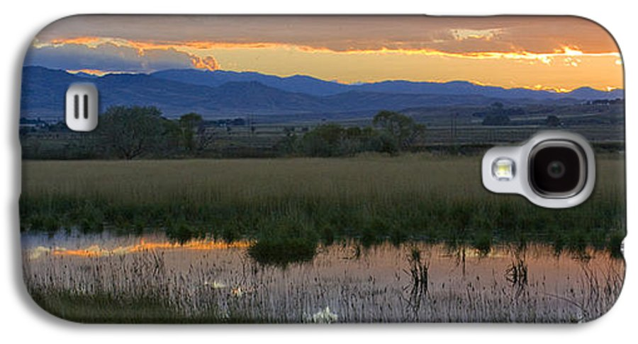 Canal Galaxy S4 Case featuring the photograph Heart Mountain Sunset by Idaho Scenic Images Linda Lantzy
